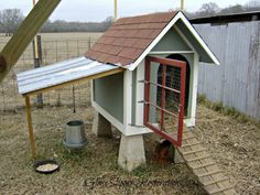 Here's a very cute repurpose ... from doghouse to hen house.