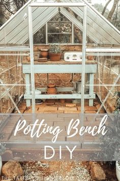 Potting benches are a necessity in any garden! Not only do they assist you in planting your seeds and starters but they also add to the ambiance of your garden. This will show you step by step how to create your very own diy garden bench. So let's get started!  #gardeningbenchdiy #diygardenbench #gardenbenchideas #gardendiy
