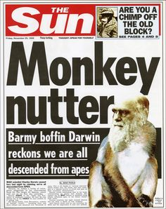 1859: Charles Darwin releases On the Origin of Species. The Sun shows how the front page of the newspaper would have looked like at certain points in history.
