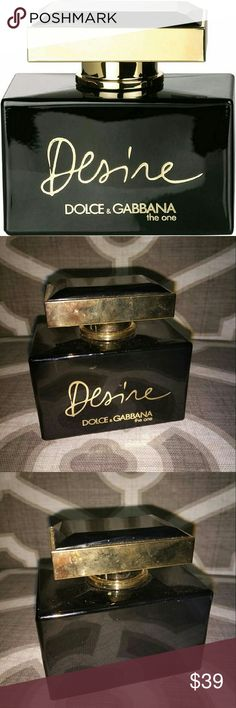 "Dolce & Gabbana the one ""DESIRE"" Perfume 2.5 FL OZ Dolce & Gabbana the one ""DESIRE"" Perfume 2.5 FL OZ See picture #4 for a more detailed description of the scent and notes... FULL bottle... new without tags or box... I got this as a gift from a friend and I am selling it because I am trying to clean out my perfume collection.  Only used two or three times, the bottle is completely full !... The bottle is also in great condition... no chips ...just a few fingerprints and smudges Dolce…"