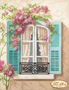 Window to Paris Beaded Embroidery kit DIY Beadwork Hand embroidery Beading set B. Window to Paris Beaded Embroidery kit DIY Beadwork Hand embroidery Beading set Beaded Embroidery Beaded needlepoint Kit avec perle Cross Stitch House, Cross Stitch Kits, Cross Stitch Designs, Cross Stitch Patterns, Embroidery Kits, Beaded Embroidery, Cross Stitch Embroidery, Broderie Bargello, Needlepoint Kits