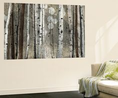 Wall Mural: Silver Lining by Tandi Venter : Birch Tree Art, Wall Art For Sale, Silver Lining, Decorating On A Budget, Poster Wall, Home Art, Wall Murals, Framed Artwork, Decor Styles