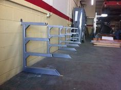 Storage Rack - Homemade storage rack for steel stock, constructed from square and rectangular tubing, and steel plate. Steel Storage Rack, Lumber Storage, Steel Racks, Metal Rack, Metal Shop, Wood Storage, Welding Shop, Welding Table, Metal Welding
