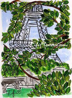 Eiffel Leaves by Fifi Flowers on Etsy