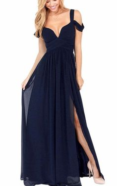 Gabrielle Maxi Slit Dress