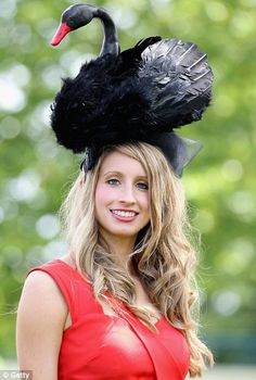Royal Ascot Ladies Day Hats. Pardon me, ma'am, you've got a little something up... never mind.