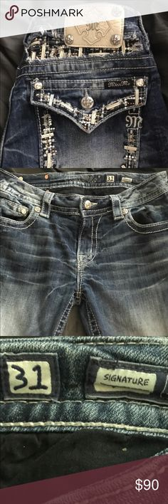 Miss me jeans Lightly worn . Buckle Jeans Boot Cut