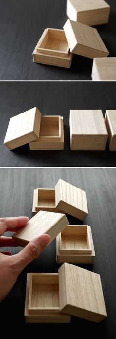 This goods is a small paulownia box for Japanese gift. You receive 3 pieces small paulownia boxes! Wood Gift Box, Wood Gifts, Small Wood Box, Small Boxes, Diy Crafts Videos, Diy And Crafts, Japanese Gifts, Old Wood, Wood Boxes