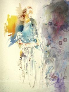 Spanish Visual Artist Title: Vuelo sobre pedales I