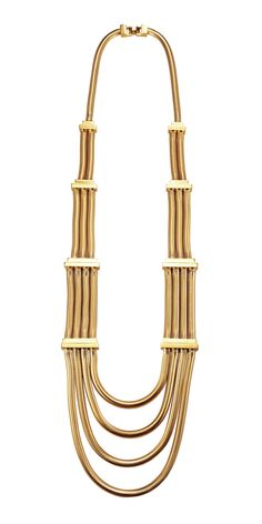 House of Lavande Made in Italy Harbour Collection Multi Layered Snake Chain Necklace
