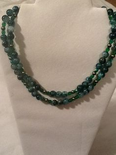 Hey, I found this really awesome Etsy listing at https://www.etsy.com/listing/191811831/emerald-and-jade-multistrand-necklace
