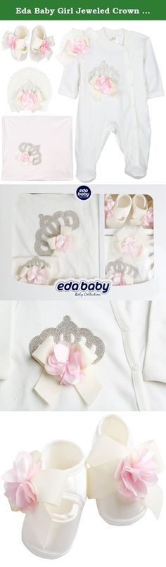 Eda Baby Girl Jeweled Crown Layette 5 Piece Gift Set 0-3 Months Pink. Eda Baby is a brand that compiles authentic design and beautiful clothes for children who deserve compassion and love. All of materials used on our products are hygenic and care your baby's health. Does not contain chemicals harmful to your baby.. Produced with international production techniques and safety standarts.