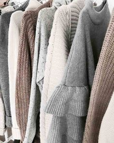 Neutral knits and sweaters to survive the winter weather