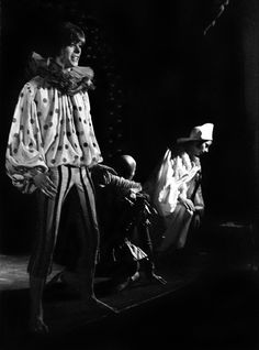 David Bowie as Cloud, with Jack Birkett and Lindsay Kemp, in Pierrot in Turquoise at the Mercury theatre, London, in 1968.