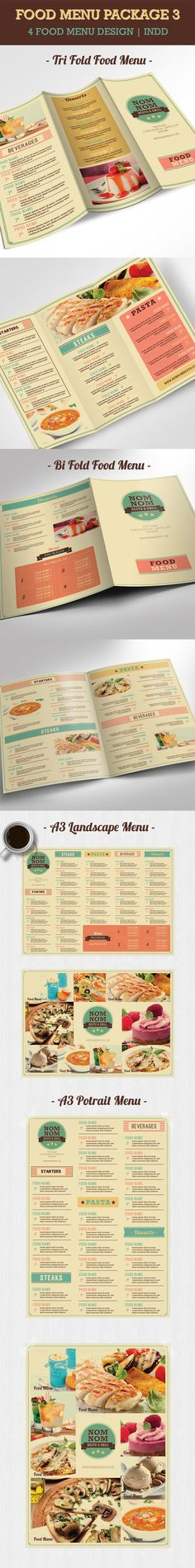 Bi Fold Food Menu Food menu, Menu and Food menu template - food menu template
