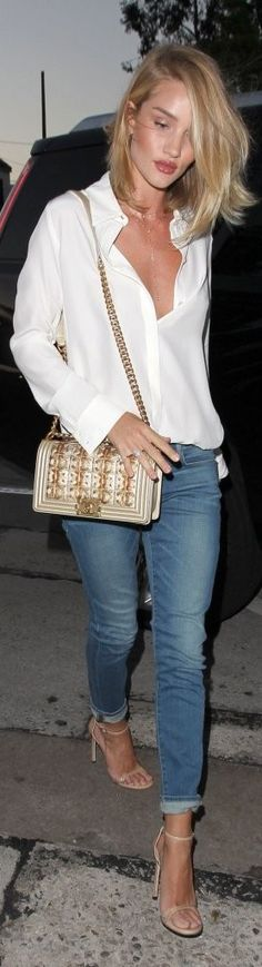 Rosie Huntington-Whiteley enjoy dinner at Craig's Restaurant