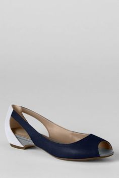 Women's Blaine Open Toe Flats from Lands' End
