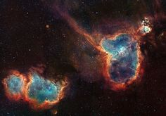 Heart and Soul nebula in the Casseiopia Constellation