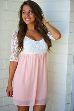 She's So Rosy Dress: Peach