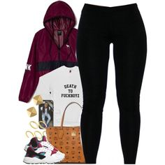 Untitled #1409 by power-beauty on Polyvore featuring NIKE, MCM, Vince Camuto, ASOS and Victoria's Secret