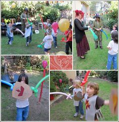 balloon swords, make your own shields