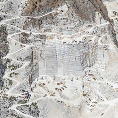 Aerial Views of The Carrara Marble Mines by Bernhard Lang #inspiration #photography