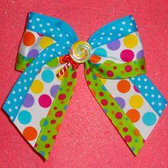 Candy Land Lollipop Hair Bow.