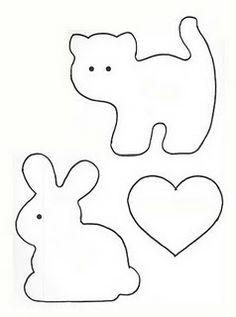 Felt:  cat & bunny