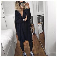 """7,439 mentions J'aime, 70 commentaires - Audrey Lombard (@audreylombard) sur Instagram: """"Lunettes de soleil et sourire caché ⚫️ Bonne soirée! #mondayoutfit #blackmonday #eponymcreation…"""""""