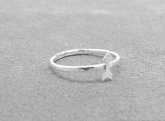 Arrow Ring Find Your True North Ring Arrow by GirlBurkeStudios