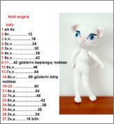 cat angela – Models with description – Gift For Men Crochet Doily Patterns, Amigurumi Patterns, Crochet Doilies, Doll Patterns, Teachers Pet, Toys For Boys, Crochet Toys, Diy And Crafts, Knitting