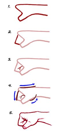 How to draw a fist.
