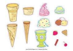There are lacing cards, jigsaws, posters, cut and stick activities and more in our set of ice cream printables. Summer Coloring Pages, Colouring Pages, Ice Cream Pictures, Ice Cream Poster, Lacing Cards, Clever Kids, Doodle Pages, Ice Cream Social, Girl 2nd Birthday