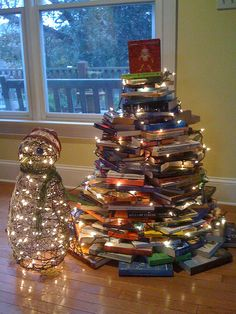 different....would make a neat bookstore Christmas display