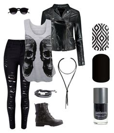 """""""Biker Chic"""" by wootwoot58 on Polyvore featuring WearAll, Bamboo, Chicnova Fashion, MANGO, Lulu*s, women's clothing, women, female, woman and misses"""