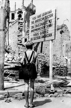Post World War II in Berlin, Germany.