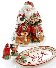 Fitz and Floyd Serveware, Santa's Forest Friends Collection - Holiday Serveware - Holiday Lane - Macy's #MacysFavoriteThings