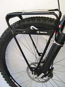 Old Man Mountain Cold Springs Front Load Rack... for bikes with front fork suspension! Hooray! Decent front racks for bikes with front suspension are pretty rare, but these lovelies look great, and are even distributed in Australia. Hooray! $22