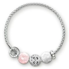 stopper - 925 Sterling silver - silicone Size: ca. 0.3 cm white jade - 925 Sterling silver - white jade bevelled Size: ca. 1.0 cm hearts - 925 Sterling silver Size: ca. 1.1 cm rose quartz - 925 Sterling silver - rose quartz bevelled Size: ca. 1.0 cm bracelet with folding clasp - 925 Sterling silver Width: 0.3 cm