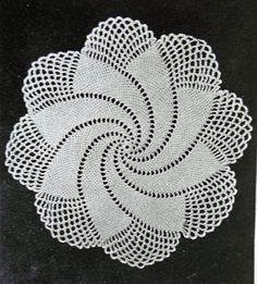 Robin Harley Blog - It's all about Handmade: Spiral Doily - 1949 Vintage Crochet written Pattern Free