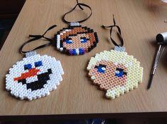 Frozen set of Christmas decorations hama beads by PixelateGifts