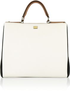 96eed43e650a Dolce   Gabbana - White The Sicily Large Leather Tote - Lyst