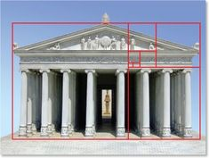 Principles of design theory of design module 2 proportion,scale, hi… Golden Ratio Architecture, Sacred Architecture, Classical Architecture, Historical Architecture, Architecture Design, Mathematics Geometry, Sacred Geometry, Greek Parthenon, Design Theory