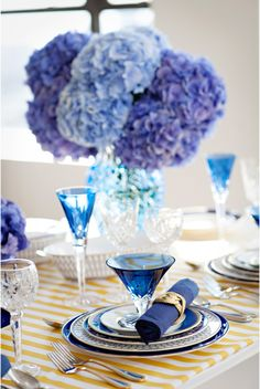 Blue Hydrangea, Blue Wedding