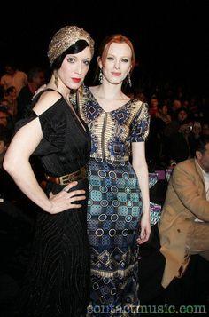 Sarah Sophie Flicker + Karen Elson.