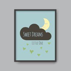 Sweet dreams little one, PRINTABLE wall art Kid nursery Modern home decor Gift by Peachonthetable on Etsy https://www.etsy.com/listing/466054853/sweet-dreams-little-one-printable-wall