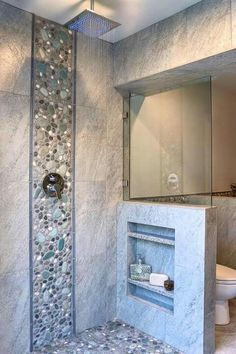 Bathroom Renovation Ideas: bathroom remodel cost, bathroom ideas for small bathrooms, small bathroom design ideas Bad Inspiration, Bathroom Inspiration, Shower Remodel, Bath Remodel, Kitchen Remodel, Master Shower, Master Bathroom, Shower Niche, Basement Bathroom