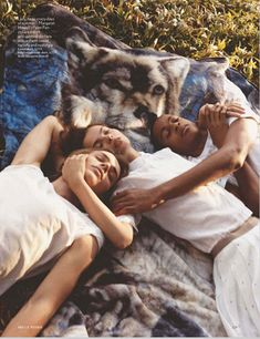power nap    bruce weber / vogue uk april 2012