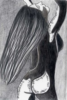 Sunrise  aceo mini print 2.5 x 3.5  female figure by penciledbynicole #art #aceo #drawing #pencil #shakespeare #quote