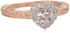 Rose Gold Flashed Silver Morganite and Diamond Heart Ring, (.14 Cttw, G-H Color, I2-I3 Clarity), Size 6 Amazon Curated Collection http://www.amazon.com/dp/B00EY51UNS/ref=cm_sw_r_pi_dp_QGSVub0739CCZ